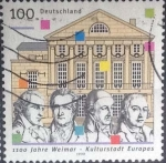 Stamps : Europe : Germany :  Scott#2024 , intercambio 0,70 usd. , 100 cents. , 1999