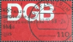 Sellos del Mundo : Europa : Alemania : Scott#2058 , intercambio 0,70 usd. , 110 cents. , 1999