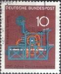 Sellos del Mundo : Europa : Alemania : Scott#978 , intercambio 0,20 usd. , 10 cents. , 1968
