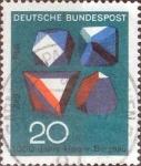 Sellos del Mundo : Europa : Alemania : Scott#979 , intercambio 0,20 usd. , 20 cents. , 1968