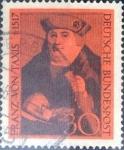 Sellos del Mundo : Europa : Alemania : Scott#971 , intercambio 0,20 usd. , 50 cents. , 1967