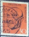 Sellos del Mundo : Europa : Alemania : Scott#988 , intercambio 0,20 usd. , 30 cents. , 1968