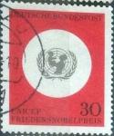 Sellos del Mundo : Europa : Alemania : Scott#967 , intercambio 0,20 usd. , 30 cents. , 1966