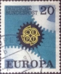 Stamps : Europe : Germany :  Scott#996 , intercambio 0,20 usd. , 20 cents. , 1969
