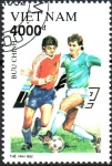 Stamps Asia - Vietnam -  CAMPEONATO  DE  FÚTBOL  DE  COPA  EUROPEA.  Scott 2366.