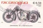 Stamps America - Nicaragua -  CENTENARIO DE LA MOTOCICLETA