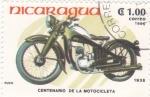 Stamps : America : Nicaragua :  CENTENARIO DE LA MOTOCICLETA