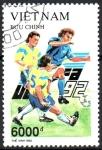 Stamps Asia - Vietnam -  CAMPEONATO  DE  FÚTBOL  DE  COPA  EUROPEA.  Scott 2368.