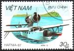 Stamps Asia - Vietnam -  HIDROAVIÓN  CHETVERIKOV  ARK-3.  Scott  1799.