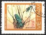 Stamps Asia - Vietnam -  ESCARABAJO  MANCHADO  DE  NEGRO.  Scott  876.