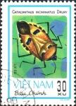 Stamps Asia - Vietnam -  INSECTOS.  CATACANTHUS  INCARNATUS.  Scott 1221.