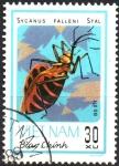 Stamps Asia - Vietnam -  INSECTOS.  SYCANUS  FALLENI.  Scott 1222.