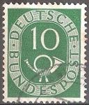 Sellos de Europa - Alemania -   Corneta postal.