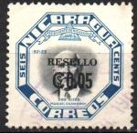 Sellos de America - Nicaragua -  NUEVO  VALOR  EN  RESELLO.  Scott 853.