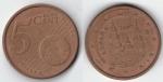 monedas de Europa - España -  5 cts Euro