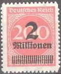 Sellos del Mundo : Europa : Alemania : Numeral.Recargo 2mi en 200dm.Imperio alemán.