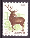 Sellos de Asia - Corea del norte -  serie- Cérvidos del zoo de Pyongyang
