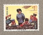 Sellos de Asia - China -  Alumnos escuela