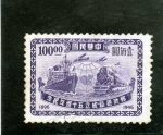 Stamps Asia - China -  BARCOS-TRENES Y AVIONES