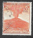 Stamps Colombia -  C244 - Volcán Galeras