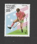 Stamps : Africa : Togo :  Hockey sobre hierba. Olimpiada Atlanta 96