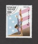 Stamps : Africa : Togo :  Gimnasia Atlanta 96