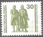 Sellos del Mundo : Europa : Alemania : Monumento Goethe-Schiller en Weimar.