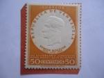 sellos de America - Venezuela -  Simón Bolívar (1783-1830) - 125 años de la Muerte del Libertador Simón Bolívar. Sello en alto reliev
