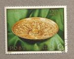 Stamps Romania -  Plato metálico