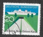 Sellos de Europa - Alemania -  1021 - LXXV Aniversario del Canal del Mar del Norte con el Mar Báltico