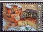Sellos del Mundo : Europa : Eslovenia : Plato gastr.