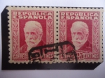 Stamps : Europe : Spain :  Ed: 667 - El Marxista: Pablo Iglesias (1850-1925) Pres. del Partido Socialista Obrero Español.