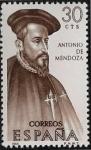 Stamps : Europe : Spain :  Forjadores de América - Antonio de Mendoza  1966 30 cts