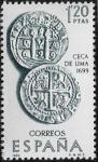 Sellos del Mundo : Europa : España : Forjadores de América -  Ceca de Lima (1699)  1966 1,20 pts