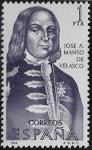Stamps : Europe : Spain :  Forjadores de América - José A. Manso  1966 1 pta