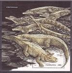 Stamps Tanzania -  Cocodrilos