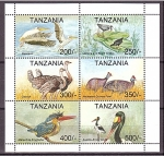 Stamps : Africa : Tanzania :  Aves