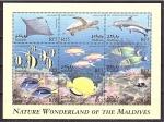 Stamps : Asia : Maldives :  Fauna de Maldivas