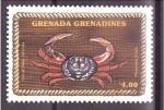 Sellos de America - Granada -  serie- Crustaceos