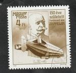 Stamps Hungary -  3147 - 150 Anivº del nacimiento de Ferdinand von Zeppelin