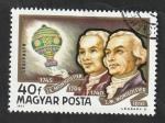 Sellos del Mundo : Europa : Hungría : 400 - Historia del dirigible, los Hermanos Montgolfier