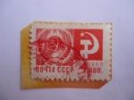 Stamps : Europe : Russia :  URSS-Escudo de Armas - Serie: Sociedad y Tecnología.