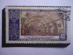 Stamps : Europe : Russia :  URSS- Komsomolskara-Koltsevaya - Metro.Estación- Metro de Moscú.