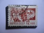 Stamps : Europe : Russia :  URSS - Trabajadores - Sociedad y Tecnología- Industria del Acero.