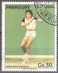 Sellos del Mundo : America : Paraguay : Tenistas(Victor Pecci).