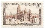 Sellos del Mundo : Africa : Costa_de_Marfil :  arquitectura