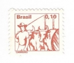 Sellos del Mundo : America : Brasil : Vaquero