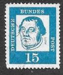 de Europa - Alemania -  828 - Martin Luther