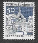Stamps Germany -  943 - Puerta del Castillo de Ellwangen