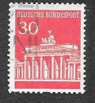 Stamps Germany -  954 - Puerta de Brandenburgo